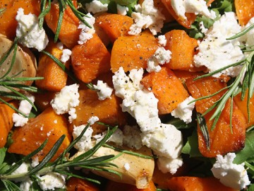 Butternut, Feta and Rocket Salad
