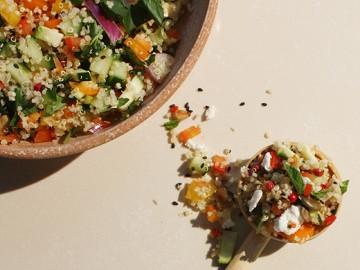 Mediterranean Quinoa Salad GF