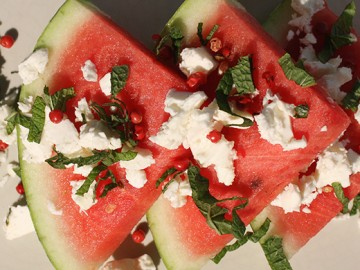 Watermelon, Feta and Mint Salad